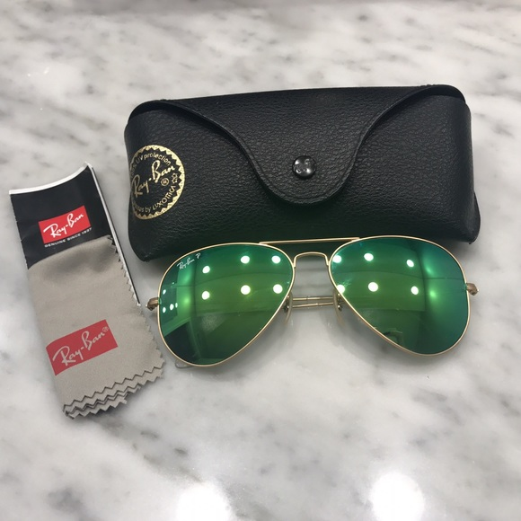 05f813411f728 ✨ray-ban aviator polarized green flash lenses✨. M 5a820578a825a6a5e65ea195